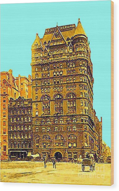 The Netherland Hotel In New York City In 1910 Wood Print by Dwight Goss