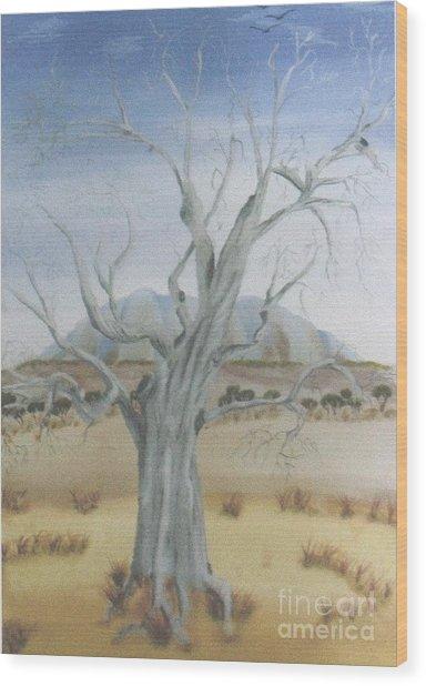 The Old Gum Tree Wood Print by Debra Piro