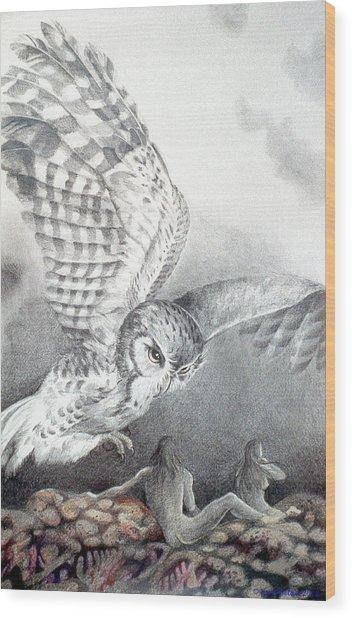 The Owl Of Athena Wood Print