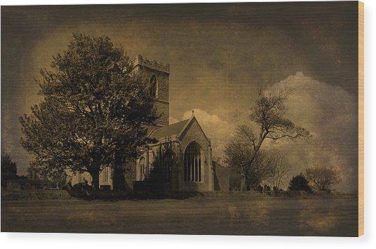 The Parish Church Of St Andrew Texture Wood Print