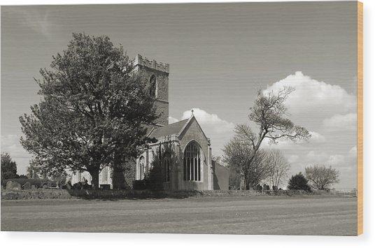 The Parish Church Of St Andrewbw Wood Print