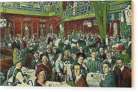 The Peking Restaurant In New York City In 1913   Wood Print by Dwight Goss