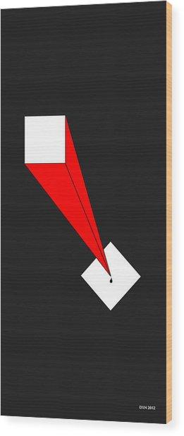 The Pen Is Mightier Than The Sword Wood Print by Allen Wilson