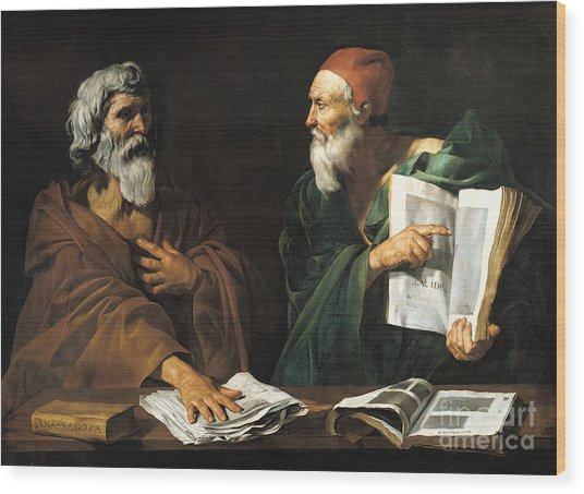 The Philosophers Wood Print
