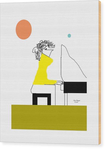 The Pianist Wood Print
