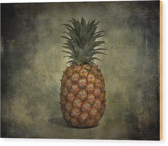 The Pineapple  Wood Print