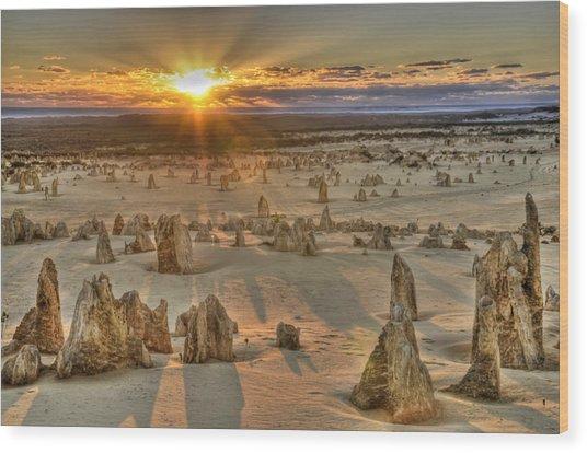 The Pinnacles Wood Print