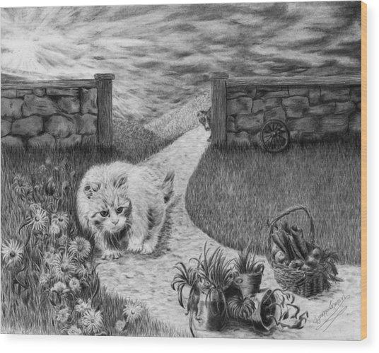 The Predator And The Prey Wood Print