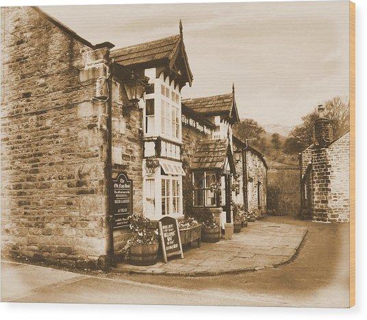 The Pub Newspaper Wood Print