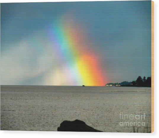 The Rainbow's Edge Wood Print