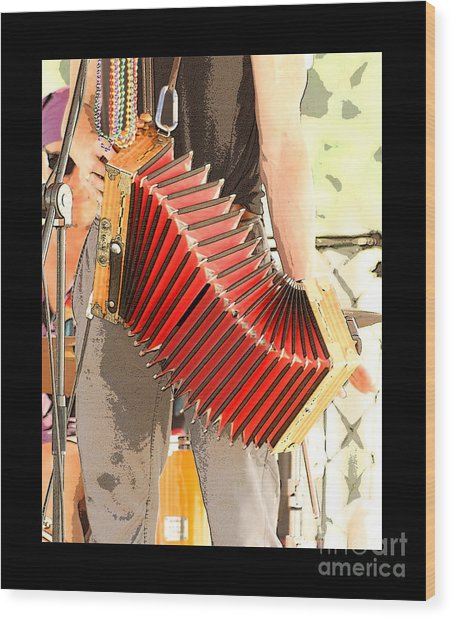 The Red Accordian Wood Print by Margie Avellino