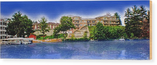The Resort Wood Print