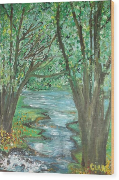 The River Wood Print
