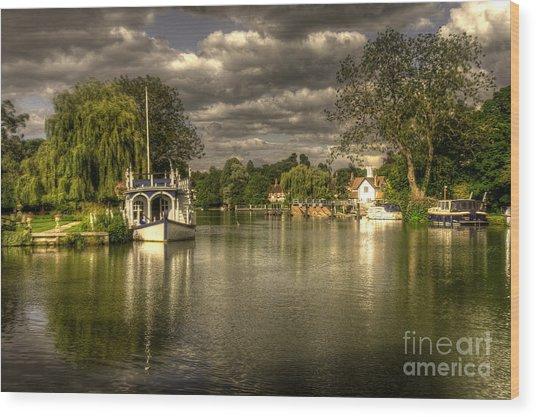 The River Thames At Streatley Wood Print