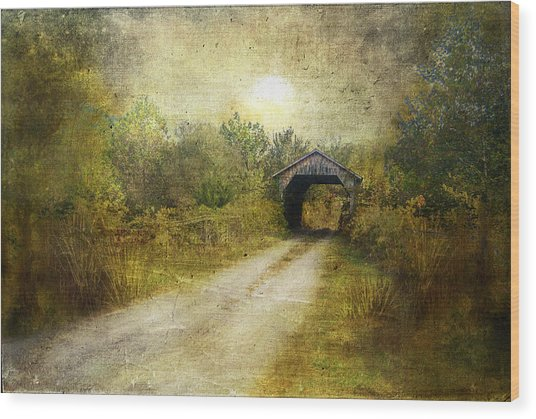The Road Home Wood Print