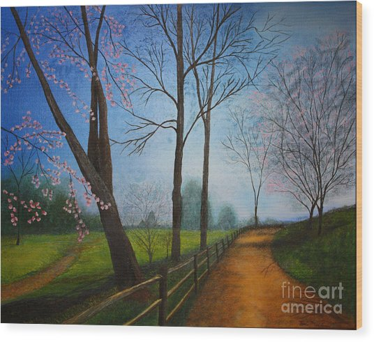 The Road Less Traveled Wood Print by Terri Maddin-Miller