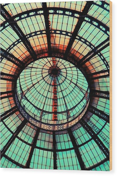 The Roof Wood Print by Andreia Gomes
