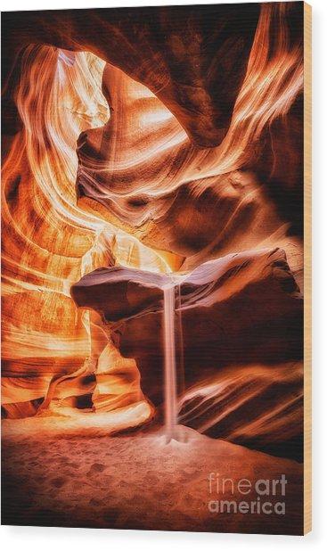 The Sandfall Wood Print by Geoffrey Gilson