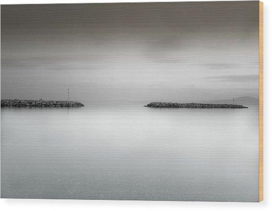 The Sea Between Us Wood Print