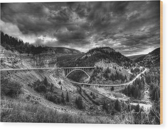 The Silver At Sunset Wood Print by Darryl Gallegos