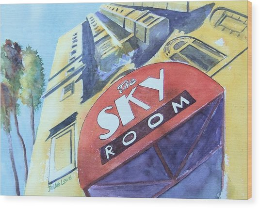 The Sky Room Wood Print