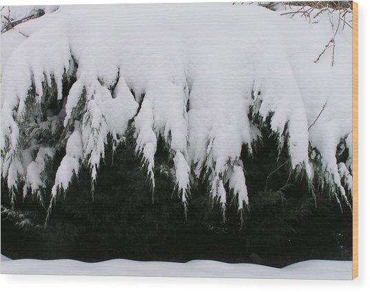 The Snow Cave Wood Print