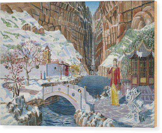 The Snow Princess Wood Print