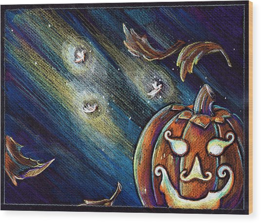 The Spirit Of Halloween Wood Print