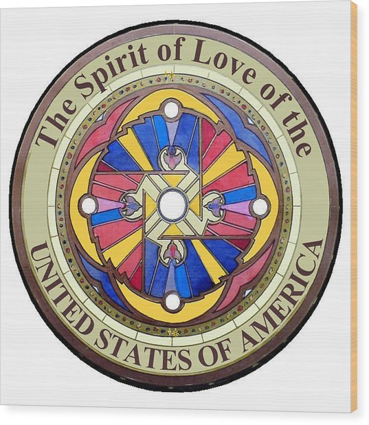 The Spirit Of Love Of The United States Of America Wood Print