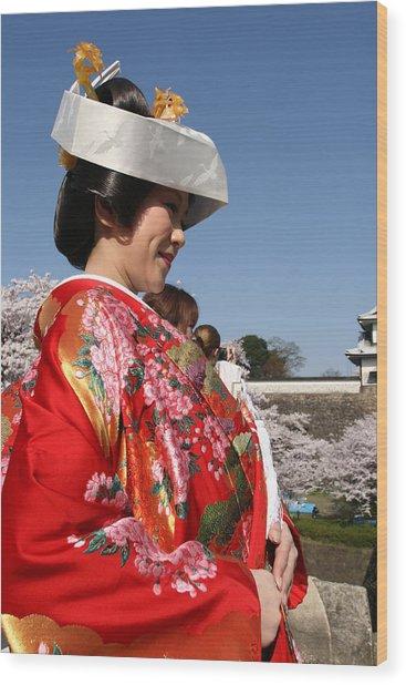 The Splendor Of A Kimono Wood Print
