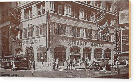 The Steuben Tavern In New York City C.1930's Wood Print by Dwight Goss