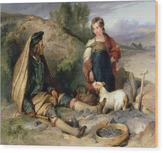 The Stone Breaker And His Daughter Wood Print