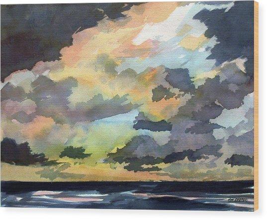 The Storm Breaks Wood Print by Jon Shepodd