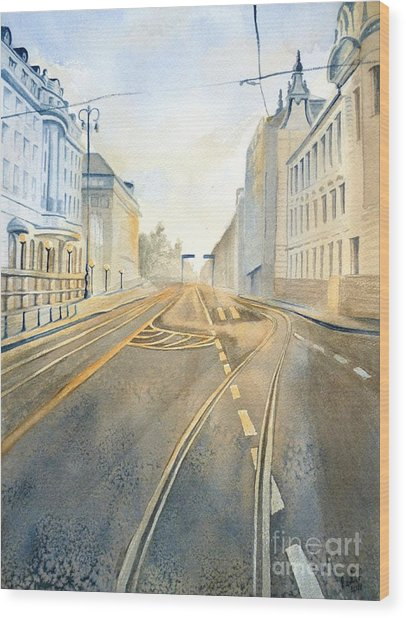 The Streets Of Zagreb  Wood Print