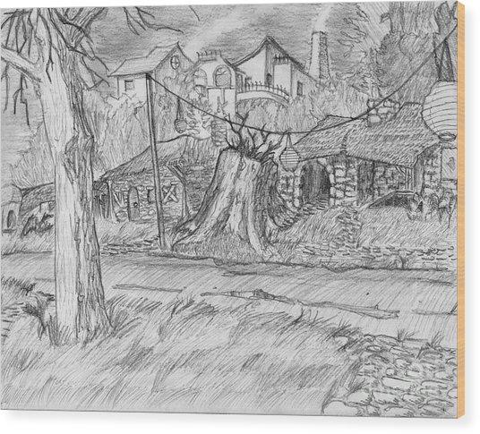 The Stump Wood Print by Jonathan Armes