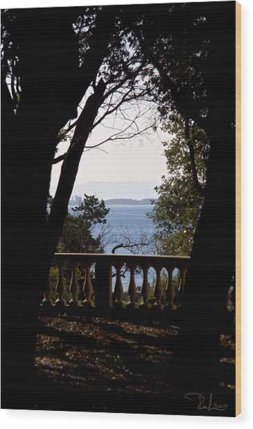 The Sun Out On The Sea Wood Print