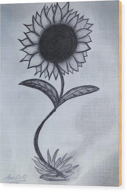 The Sunflower  Wood Print