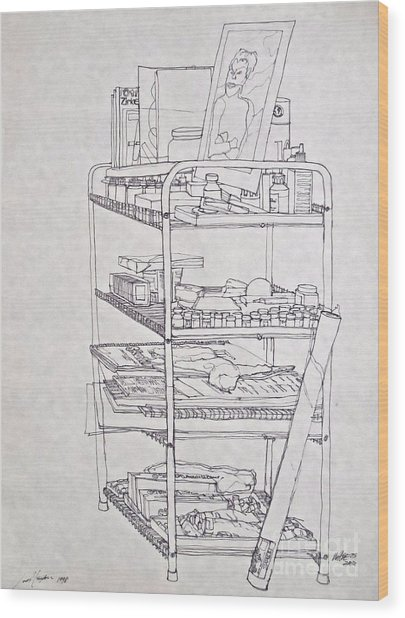 The Supplies Wood Print