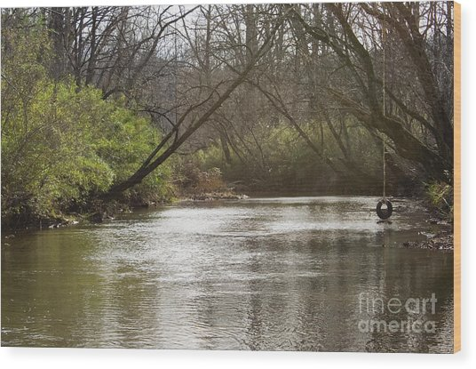 The Swimming Hole Wood Print