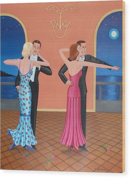 The Tango Wood Print
