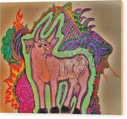 The Taurus Wood Print by Ragdoll Washburn