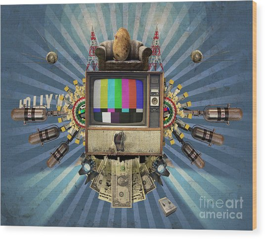 The Television Will Not Be Revolutionised Wood Print