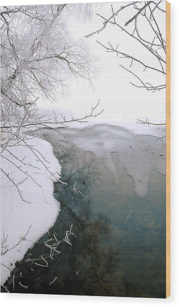 The Thaw Wood Print