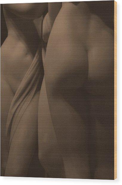 The Three Graces Voyeur II Wood Print