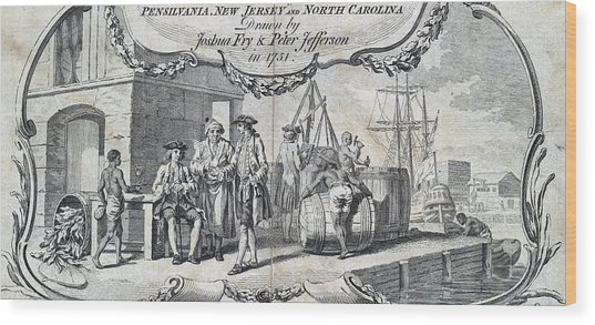 The Tobacco Trade. Merchants Relax Wood Print by Everett