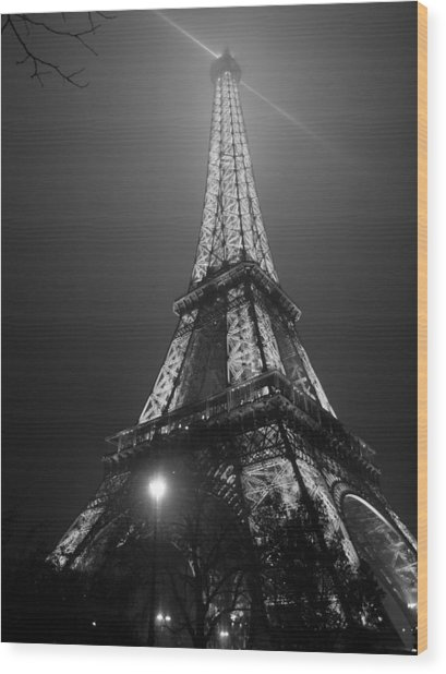 The Tower Ablaze Wood Print by Humberto Laviera