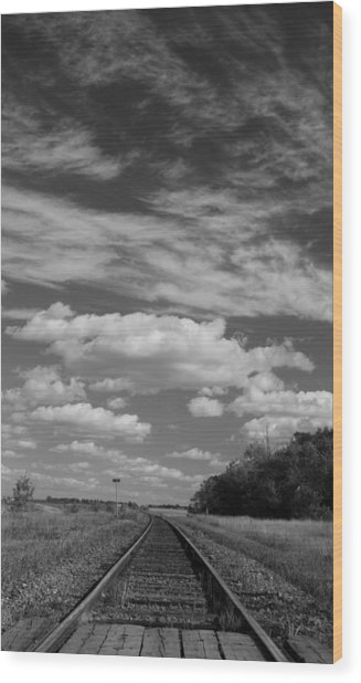 The Tracks Wood Print by Ellery Russell