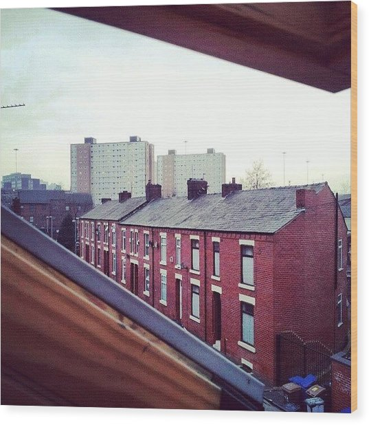 The View From My #house #roof Wood Print