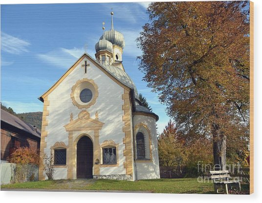 The Virgin Mary Church In Austria  Wood Print