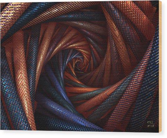 The Vortex Wood Print by Manny Lorenzo